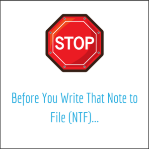 note to file template